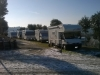 Camper con neve